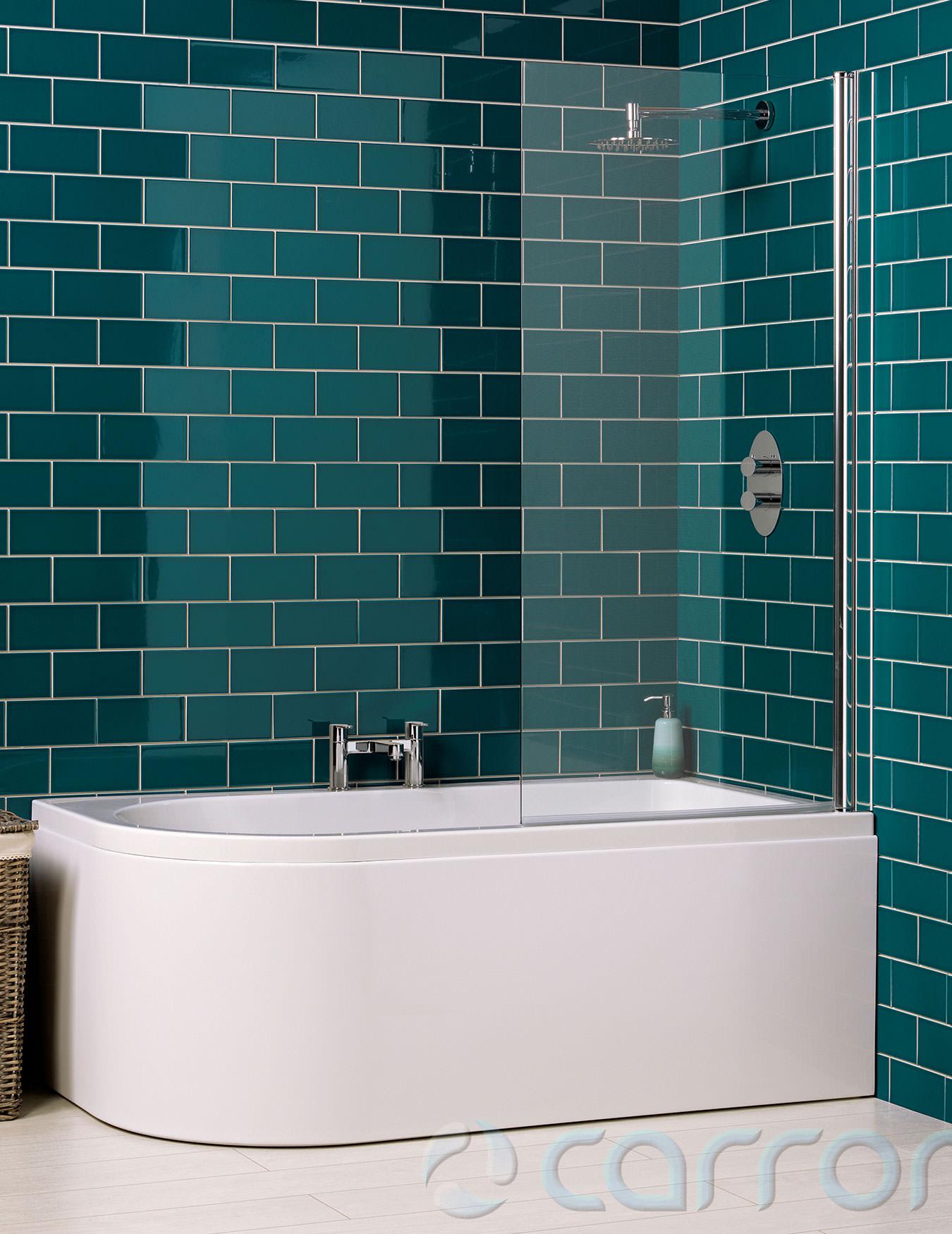 Carron Status 5mm Acrylic Shower Bath 1550 x 850mm - Left Handed