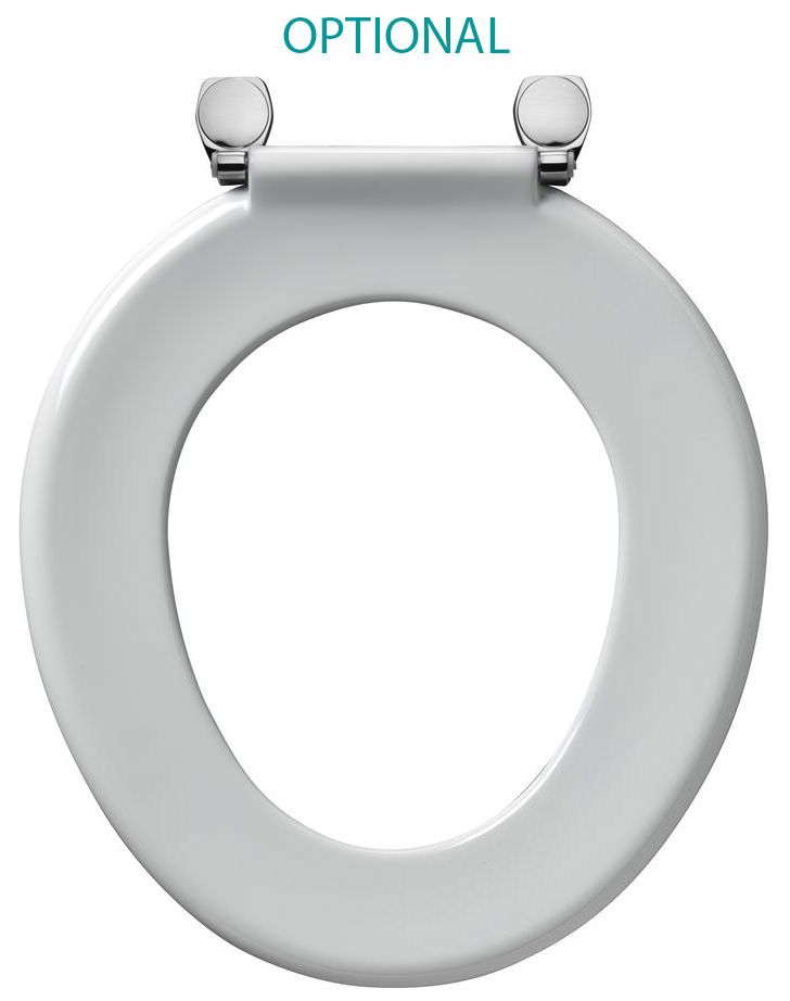 Armitage Shanks Bakasan White Toilet Seat With Top Fix Hinges
