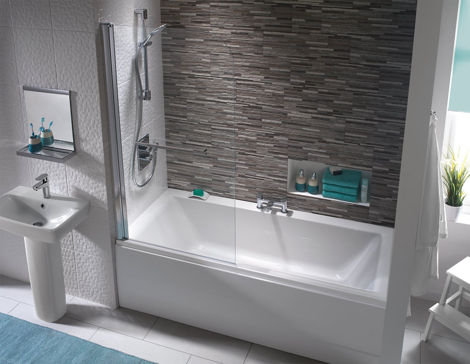 Coates Straight Double Ended Curved Bath 1800 X 800mm - Double Ended ...
