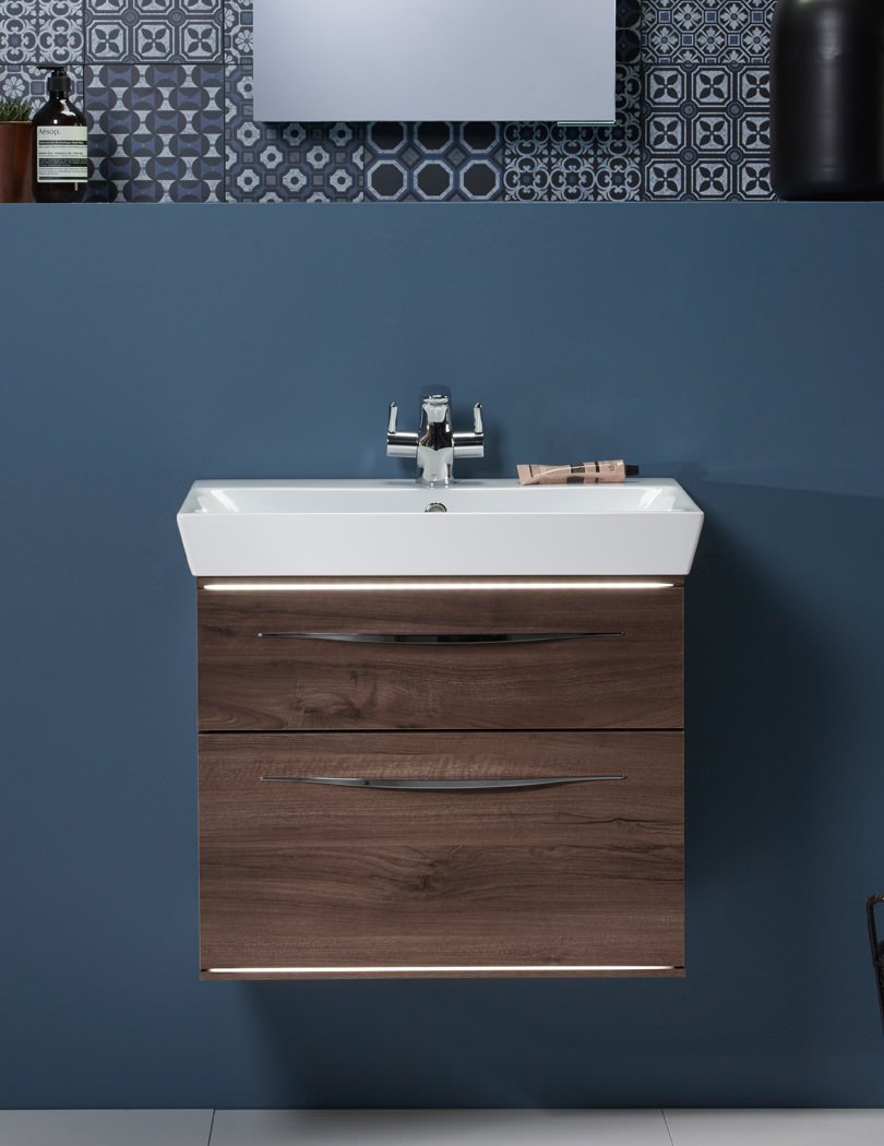 Bathroom drawer units in white - Roper Rhodes Scheme 600mm Wall Mounted Vanity Unit