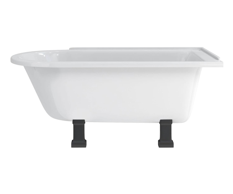 burlington hampton 1500x750mm roll top showering bath roll top bath shower curtain bathroom pinterest roll