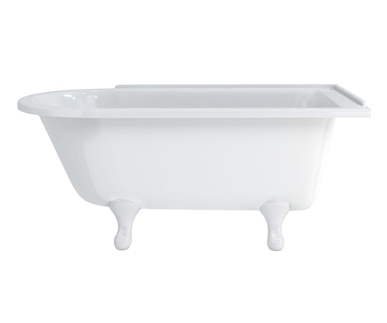 burlington hampton 1500x750mm roll top showering bath norfolk showering bath with traditional resin feet left