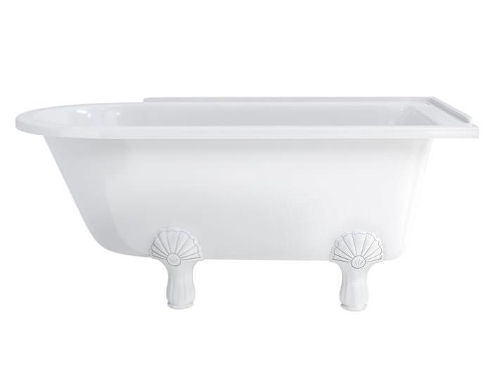 burlington hampton 1500x750mm roll top showering bath portfolio vip designer amp luxury bathrooms