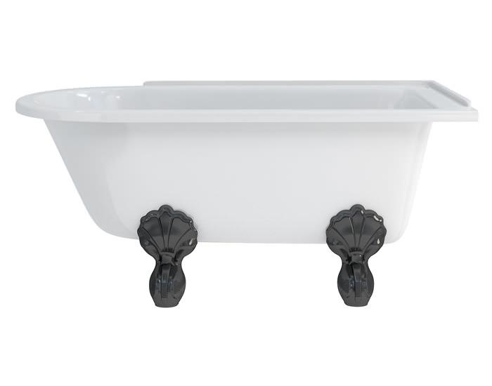burlington hampton 1500x750mm roll top showering bath clever design ideas the bath tub in the shower drench