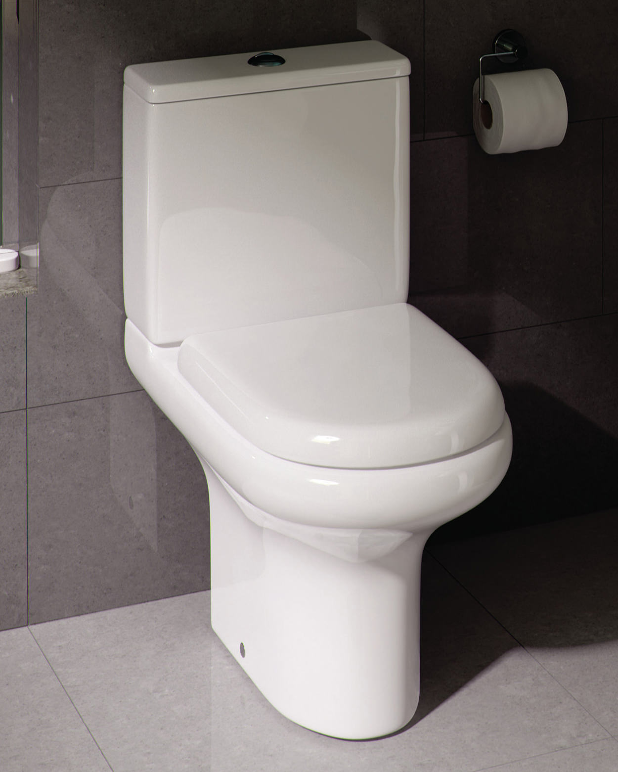 Additional Image Of RAK Compact Deluxe Close Coupled Full Access Open Back  WC Pack 625mm