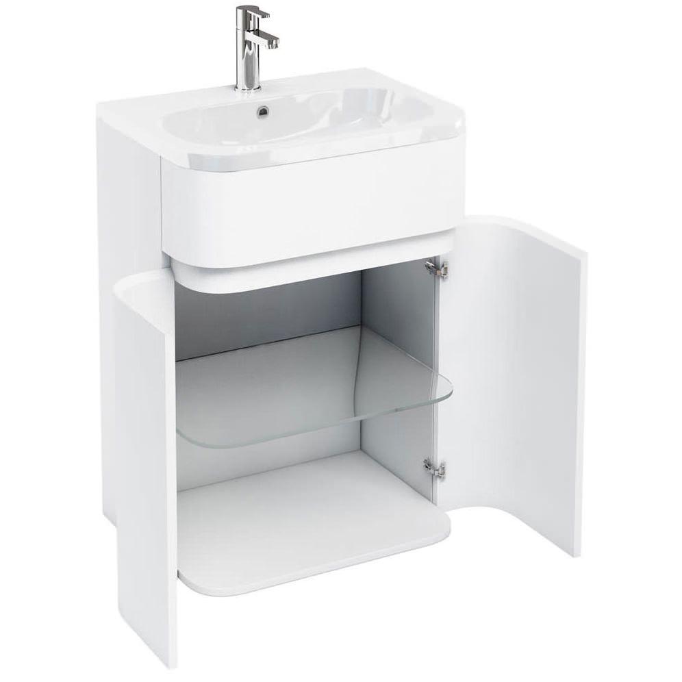Britton Aqua Cabinets Gullwing White Floor Unit With Basin