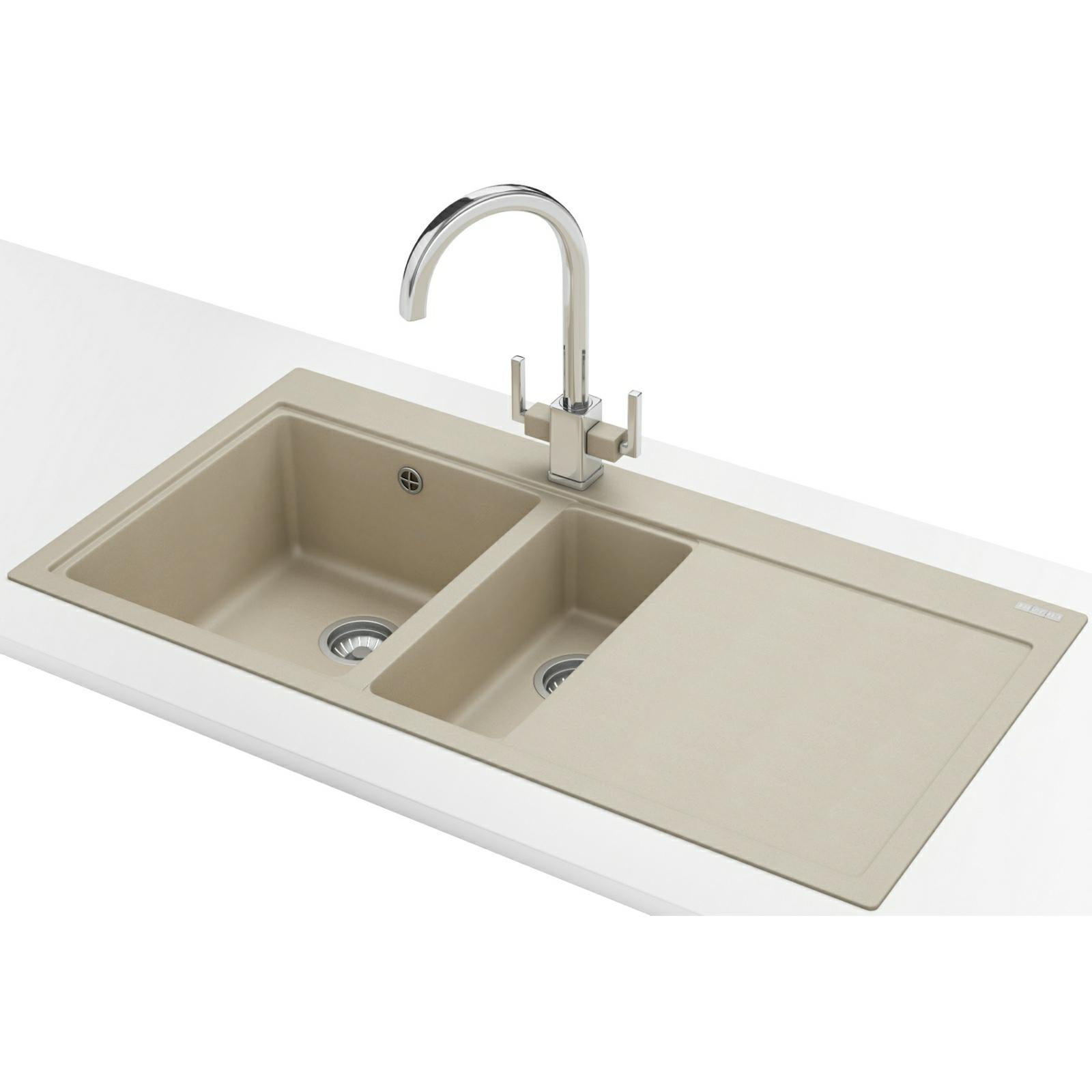 Franke Square Inset Sink : Franke Mythos MTG 651-100 Fragranite Coffee 1.5 Bowl RHD Inset Sink