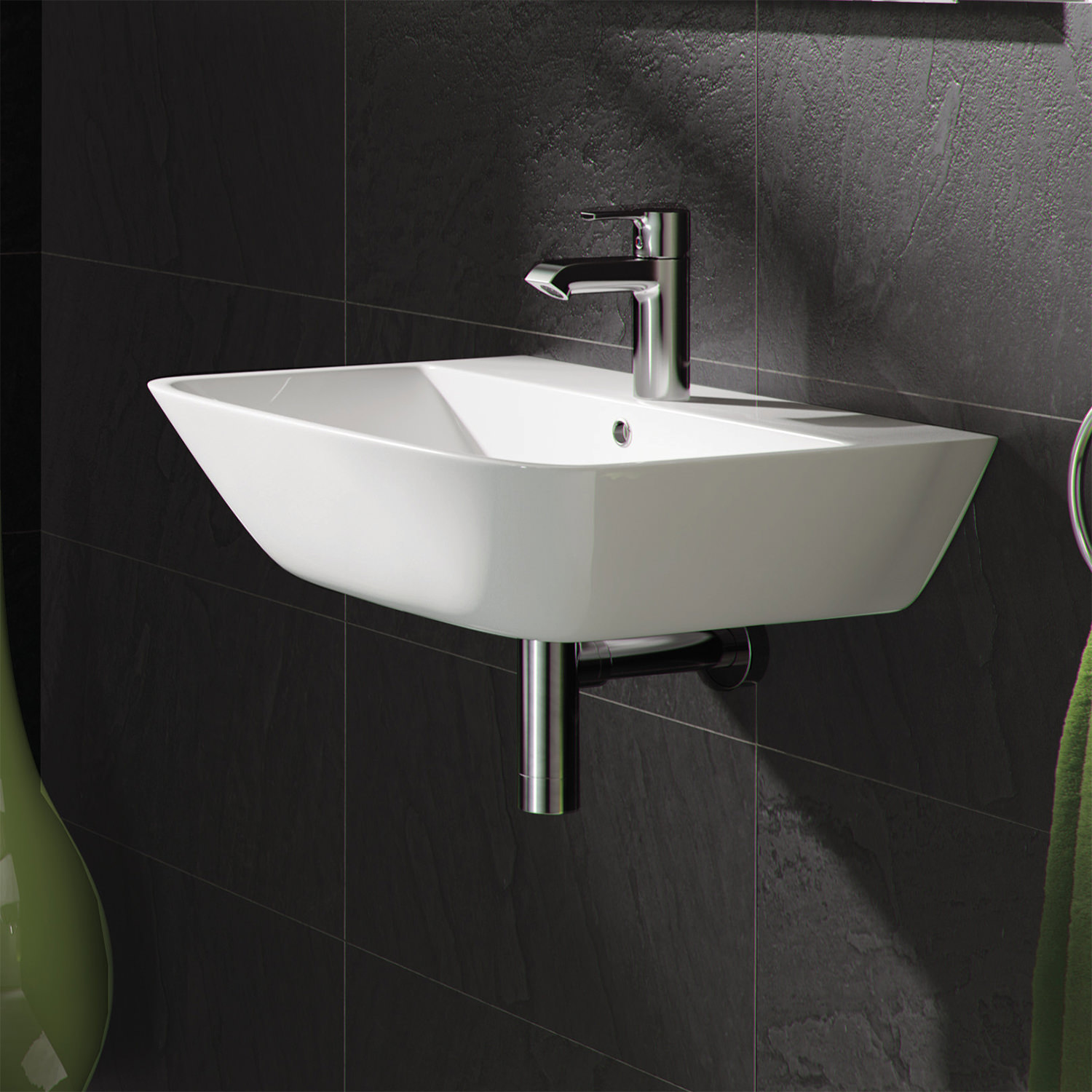 Rak Summit 400mm 1 Tap Hole Wall Hung Hand Basin