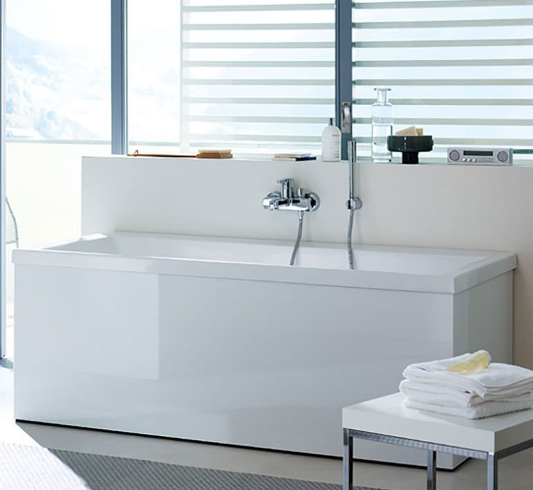 Duravit Vero 1700 x 750mm Bath With Left Slope Backrest And Jet System