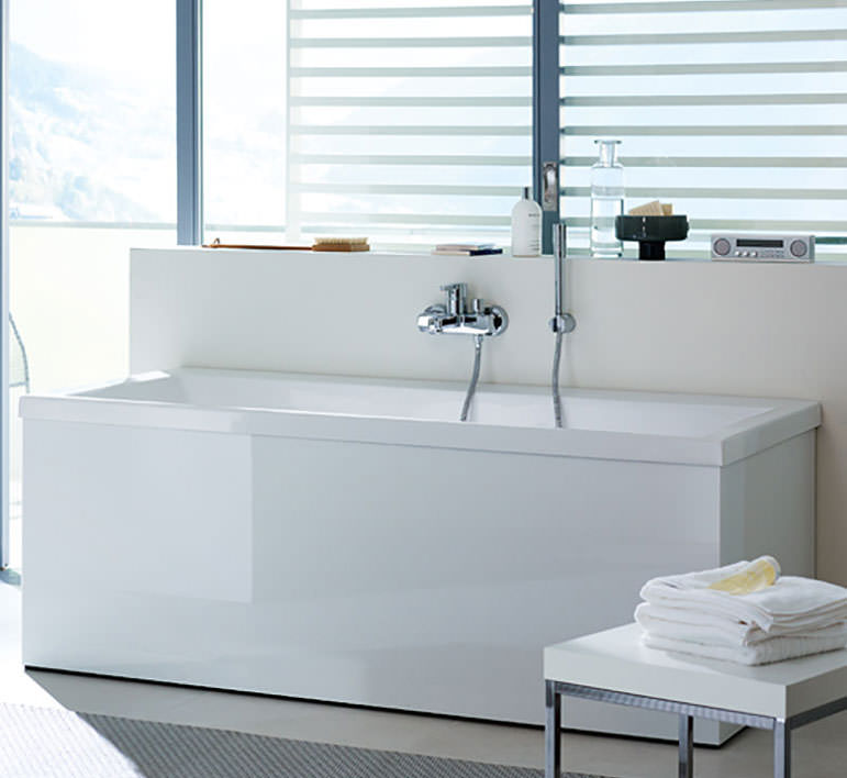 Duravit Vero 1800 x 800mm Bath With Two Backrest Slope And Jet System