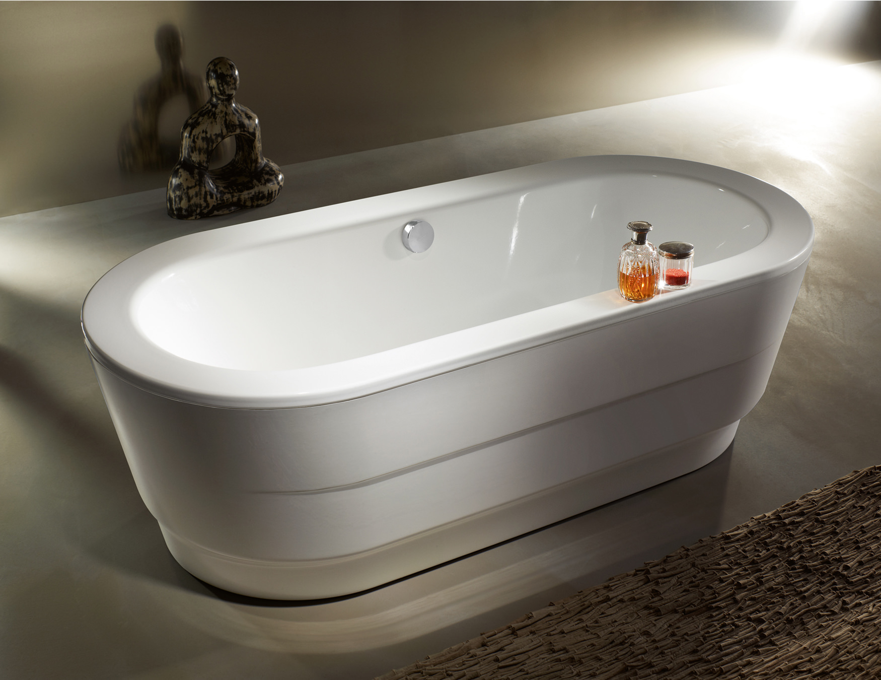 Kaldewei classic duo oval wide 115 7 freestanding steel bath for How wide is a bathtub