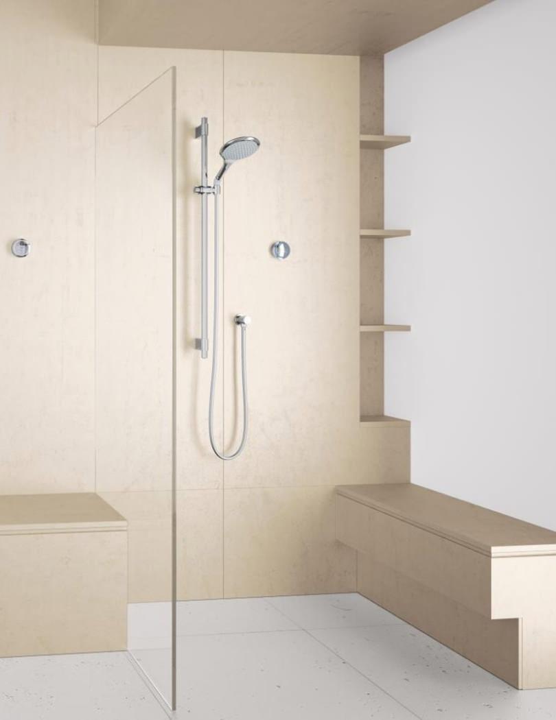 grohe rainshower solo f digital mixer shower set chrome. Black Bedroom Furniture Sets. Home Design Ideas