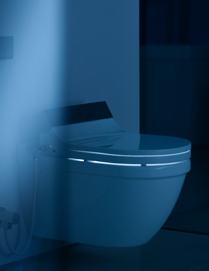 duravit starck 3 wall mounted toilet with sensowash seat