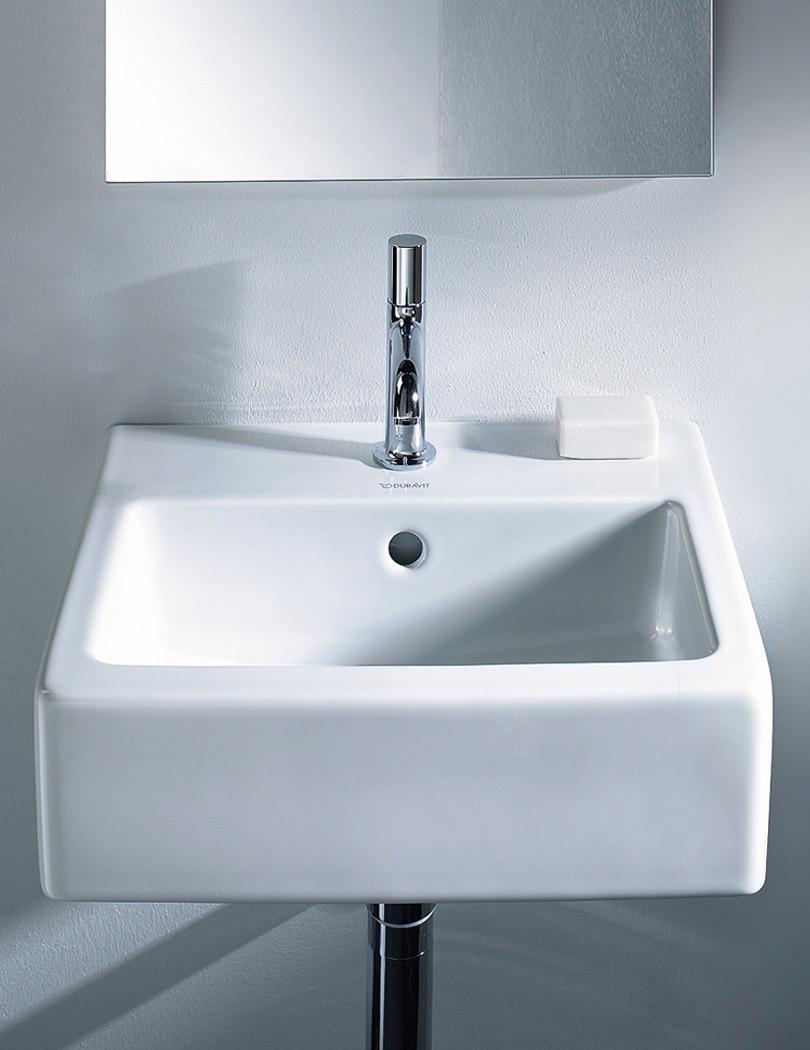 Duravit Vero White Alpin 450 x 350mm 1 Tap Hole Handrise Washbasin