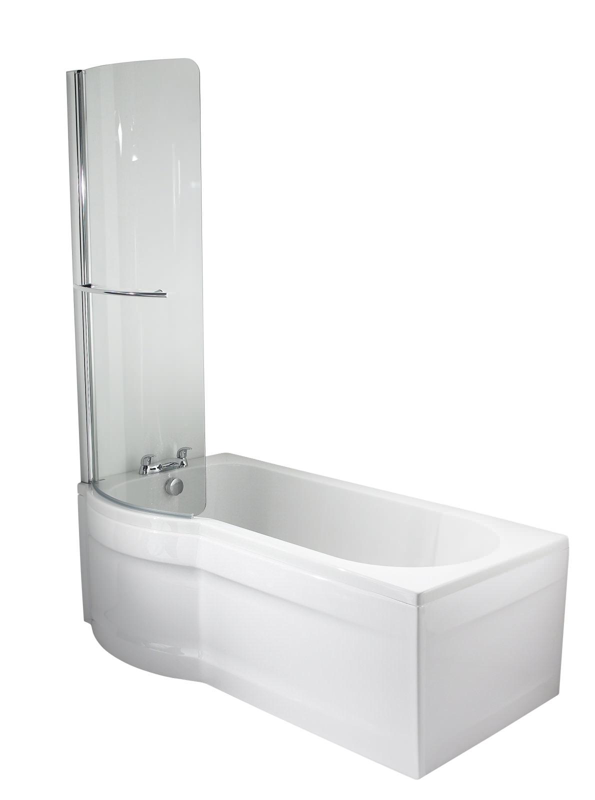 twyford galerie optimise left hand offset shower bath 1500mm munich offset left hand shower bath
