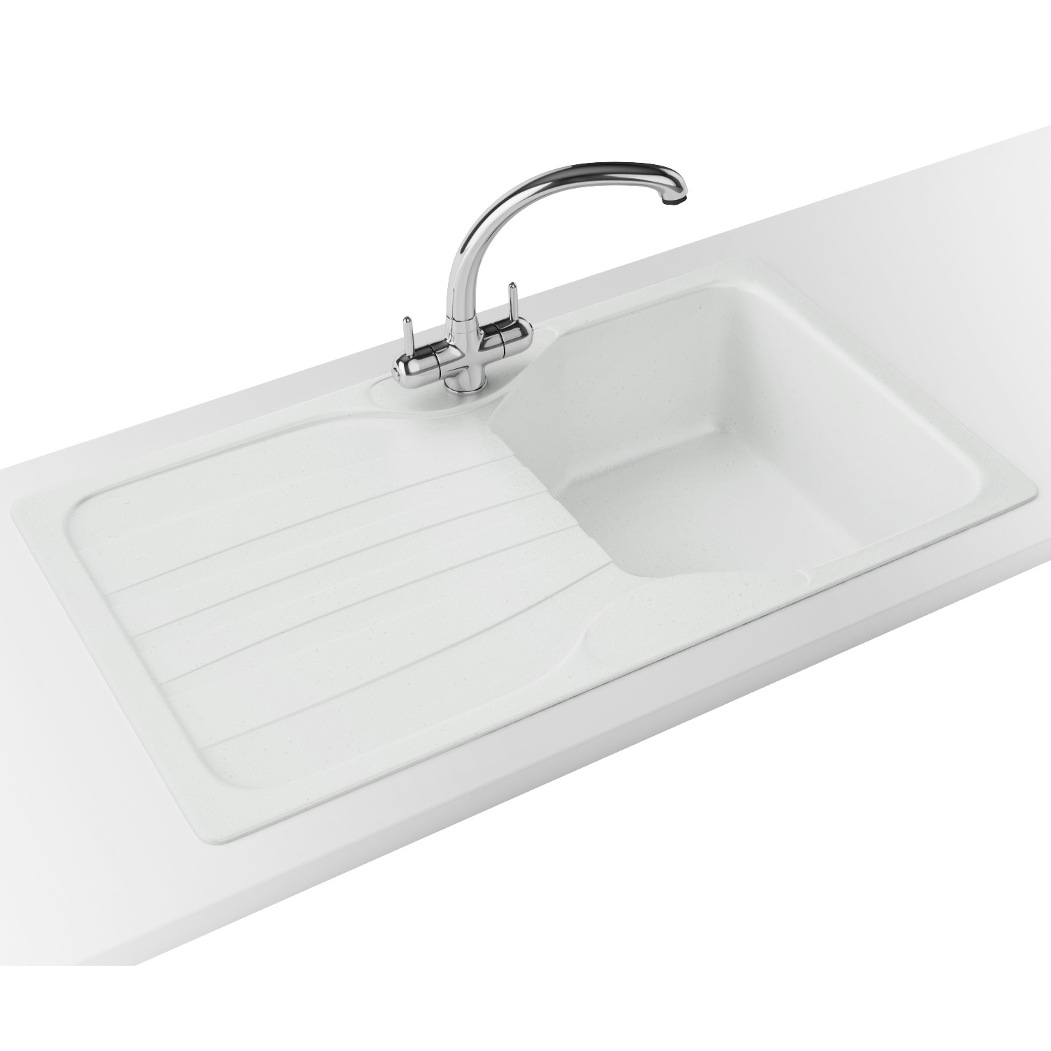franke calypso cog 611 polar white 10 bowl kitchen inset sink - Franke Sink