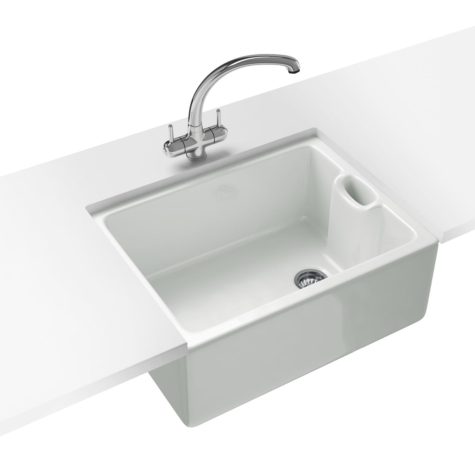 Franke Belfast BAK 710 Ceramic 1.0 Bowl White Kitchen Sink