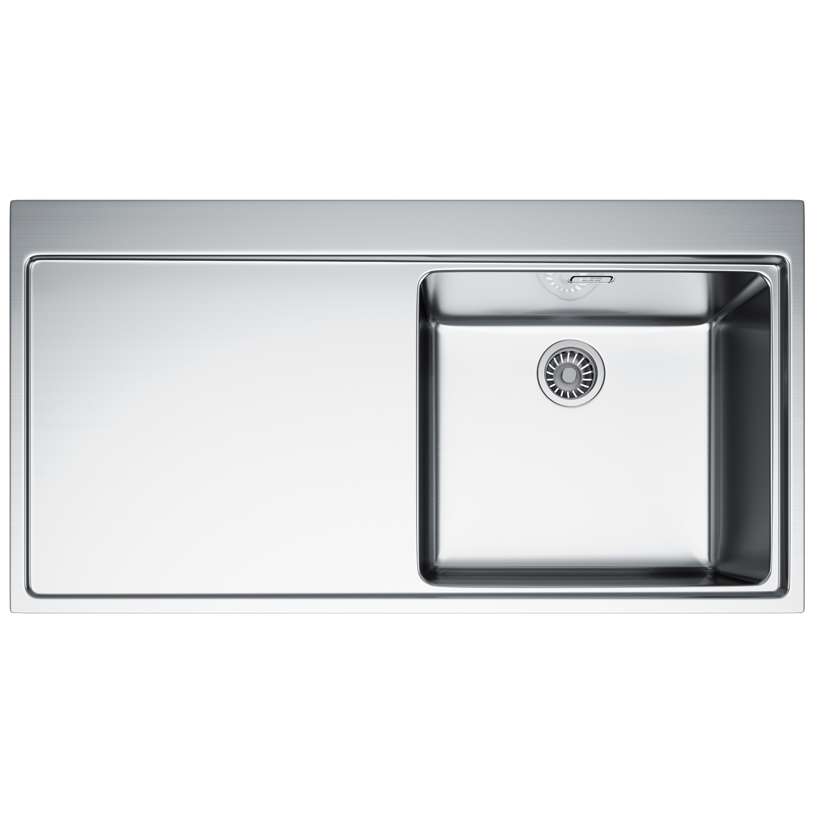 Franke Mythos Sink Stainless Steel : ... Franke Mythos MMX 211 DP - Stainless Steel Left Hand Drainer Sink And
