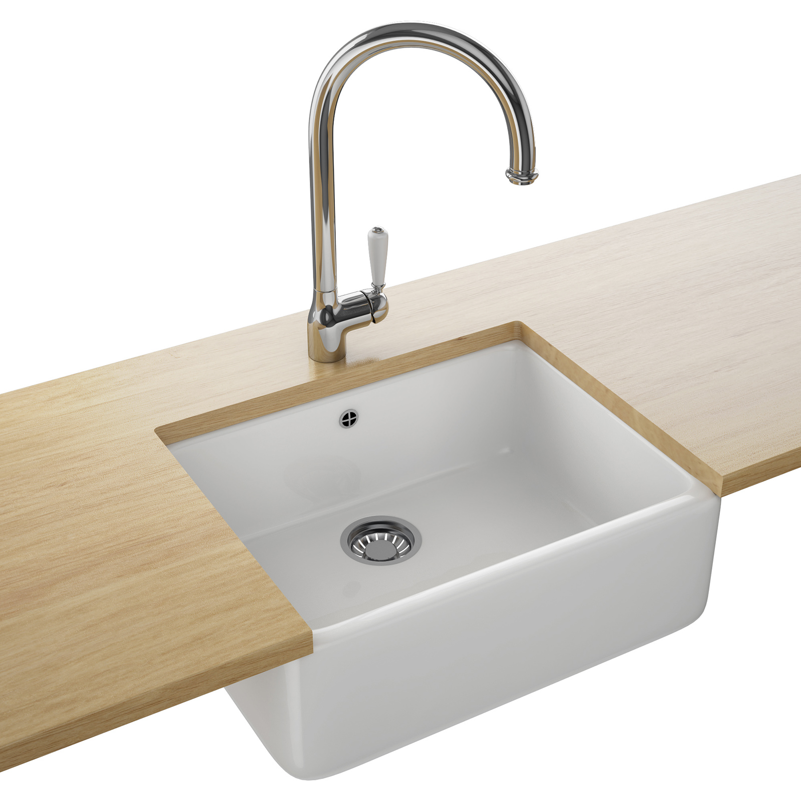 Belfast Kitchen Sink : Franke Belfast VBK 710 Ceramic 1.0 Bowl White Kitchen Sink