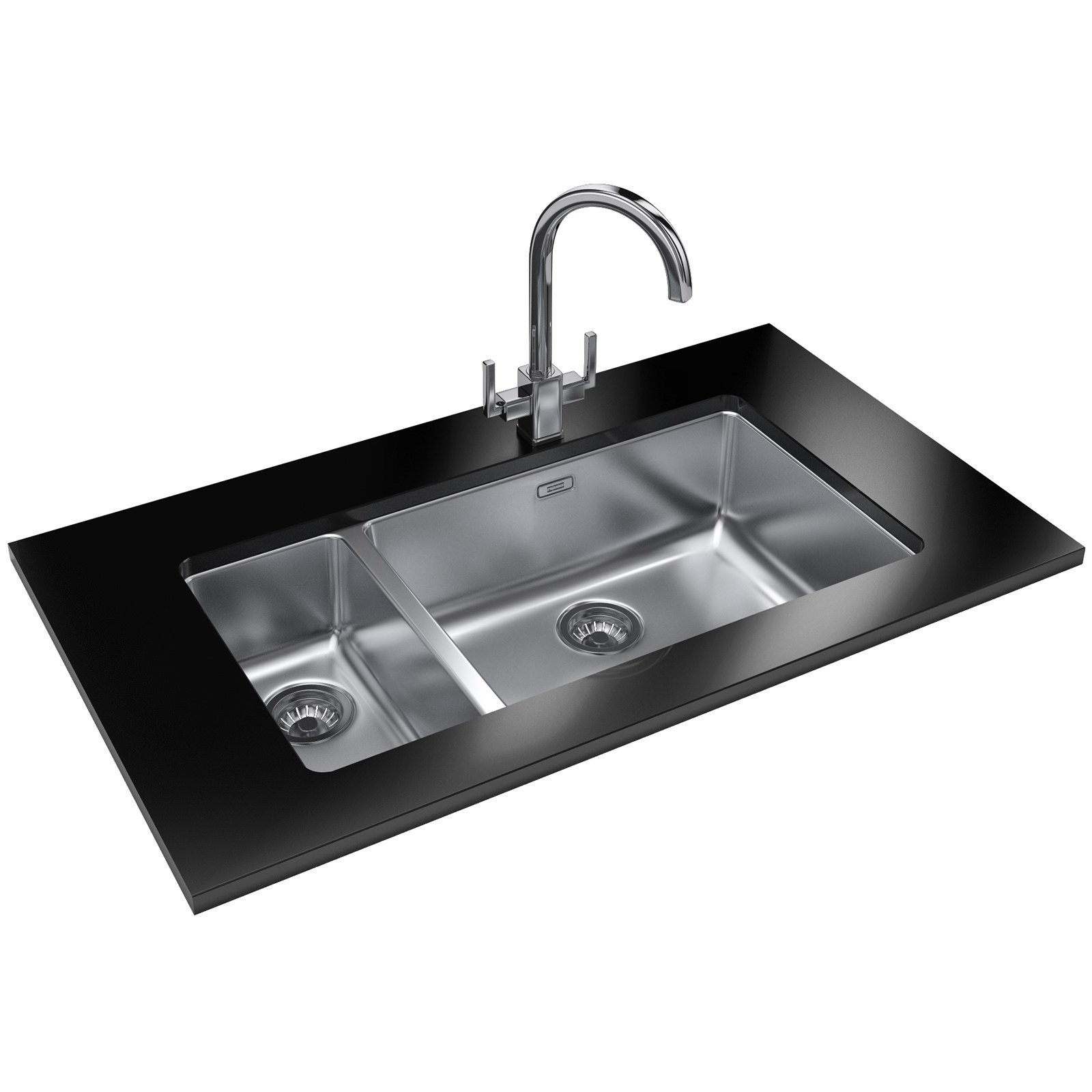... of Franke Kubus KBX 160 55-20 Stainless Steel 1.5 Bowl Undermount Sink