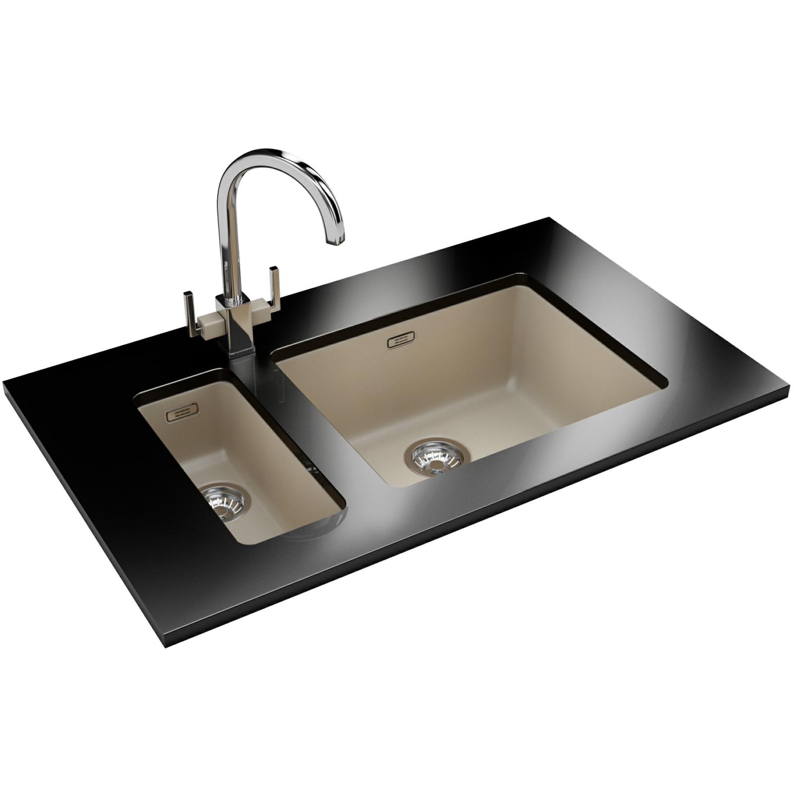 Franke kubus kbg 110 50 fragranite coffee undermount sink for Franke sinks