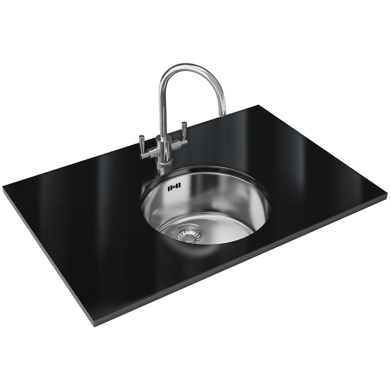 Franke rotondo rux 110 stainless steel 1 0 bowl undermount for Franke sinks