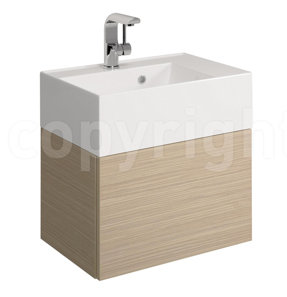 Bauhaus Elite 500mm Square Vanity Basin With Overflow