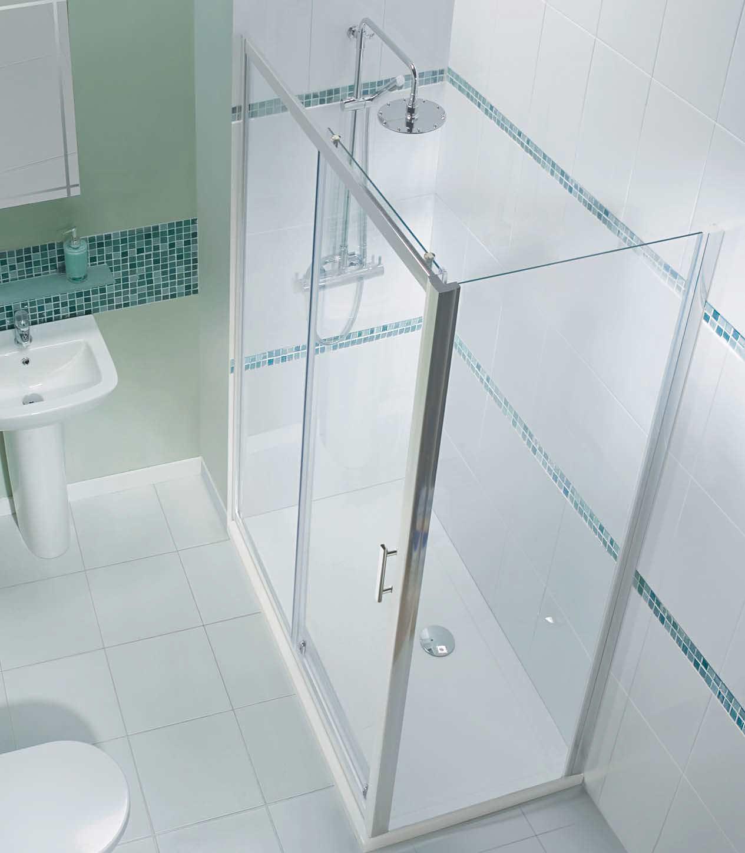 Beo framed single sliding shower door 1400mm for 1400mm sliding shower door
