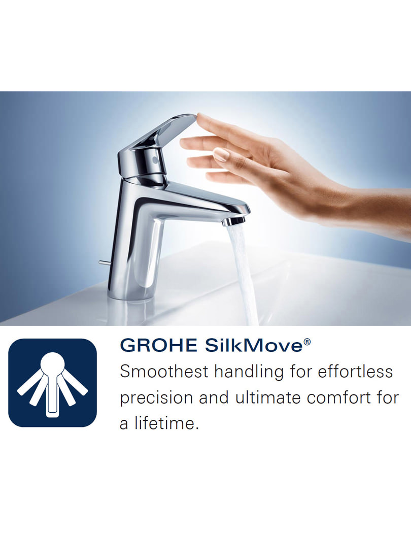 Grohe Eurocube Wall Mounted Bath Mixer With Shower Set