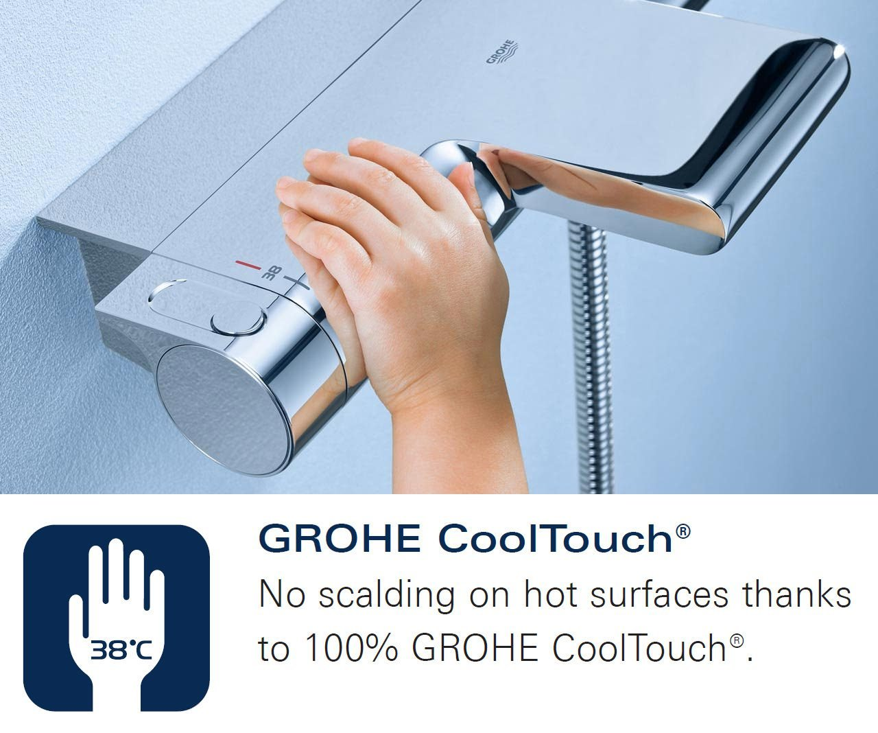 Grohe Grohtherm 1000 New.Grohe Grohtherm 1000 New Thermostatic Shower Mixer Valve With Kit
