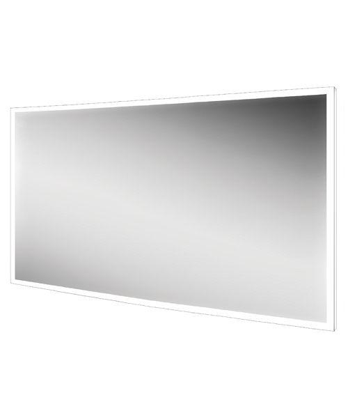 Hib globe 120 led illuminated bathroom mirror 1200 x 600mm for Mirror 120 x 60