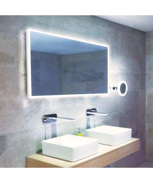 HIB Globe 120 LED Illuminated Bathroom Mirror 1200 X 600mm