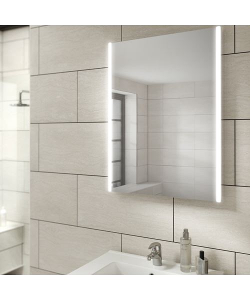 HIB Zircon 50 Portrait LED Illuminated Bathroom Mirror 500 X 700mm