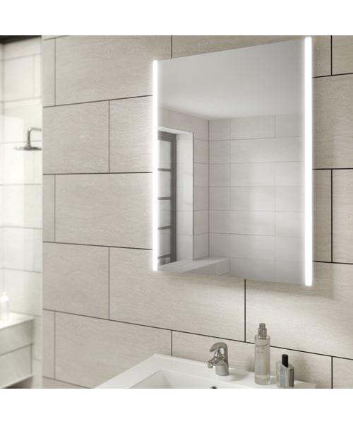 HIB Zircon 50 Portrait LED Illuminated Bathroom Mirror 500 X 700mm