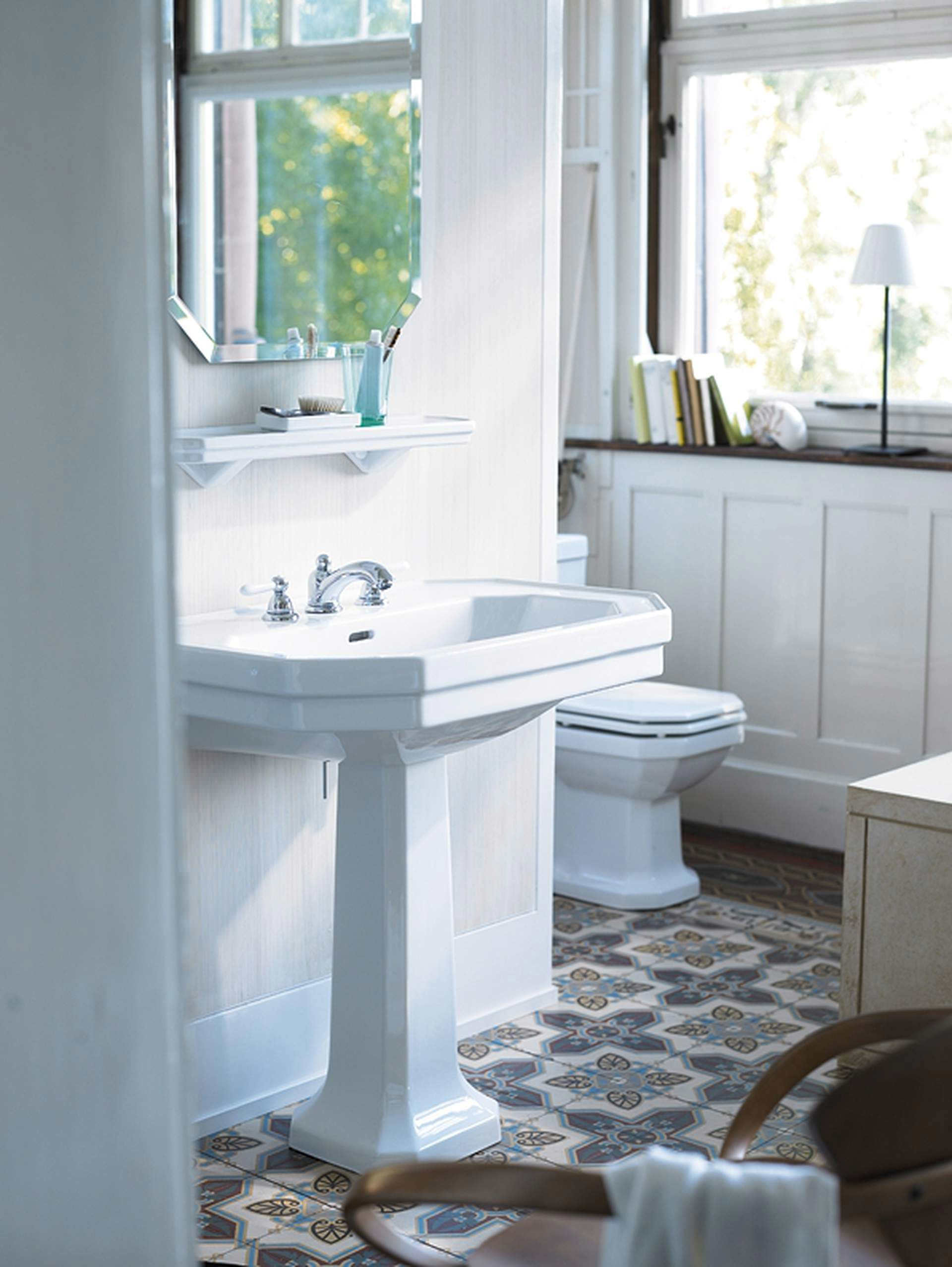 duravit 1930 series 1 tap hole washbasin 800mm 0438800000. Black Bedroom Furniture Sets. Home Design Ideas