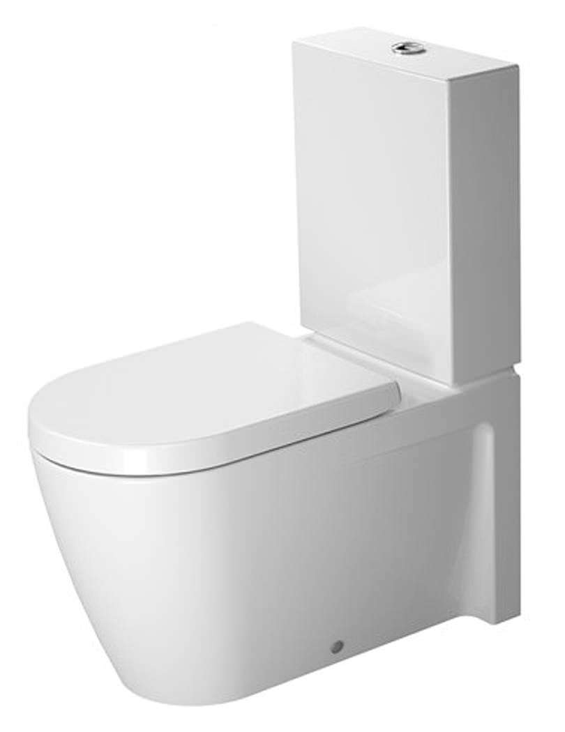 duravit starck 2 close coupled toilet with dual flush. Black Bedroom Furniture Sets. Home Design Ideas