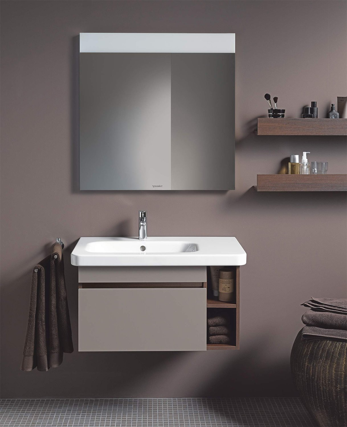 Duravit durastyle 800 x 480mm asymmetric left bowl basin for Mobili x bagno ikea