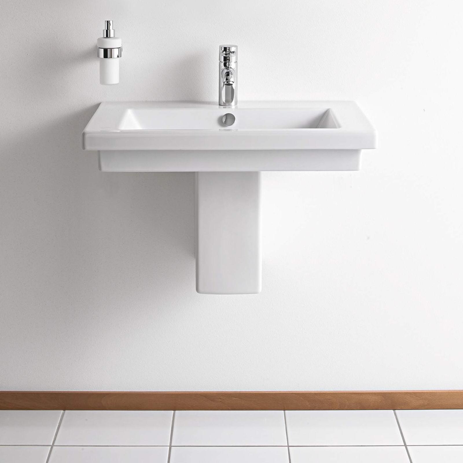 duravit 2nd floor 600 x 430mm washbasin. Black Bedroom Furniture Sets. Home Design Ideas