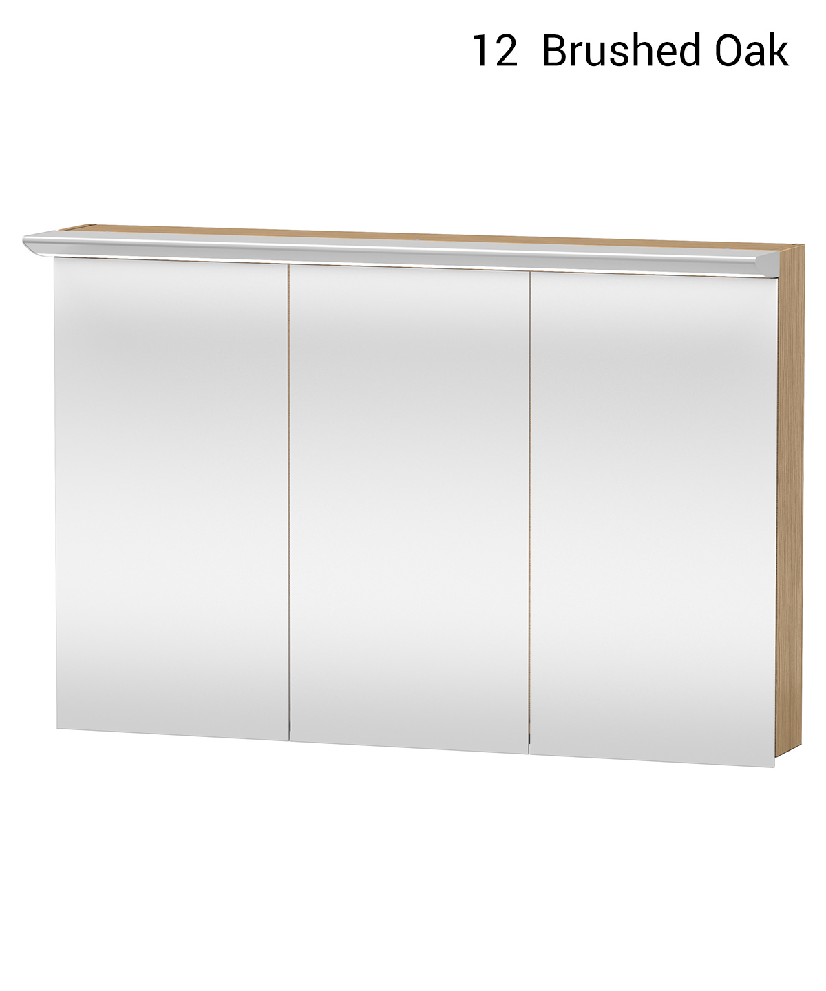 Duravit darling new 1200 x 800mm 3 doors mirror cabinet for Bathroom cabinets 80cm wide