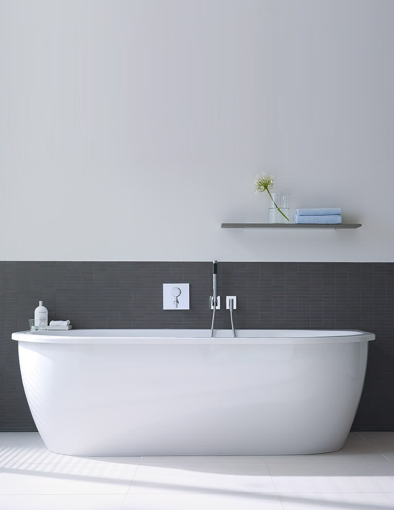 Duravit Darling New 1900 x 900mm Back To Wall Bath With Acrylic Panel