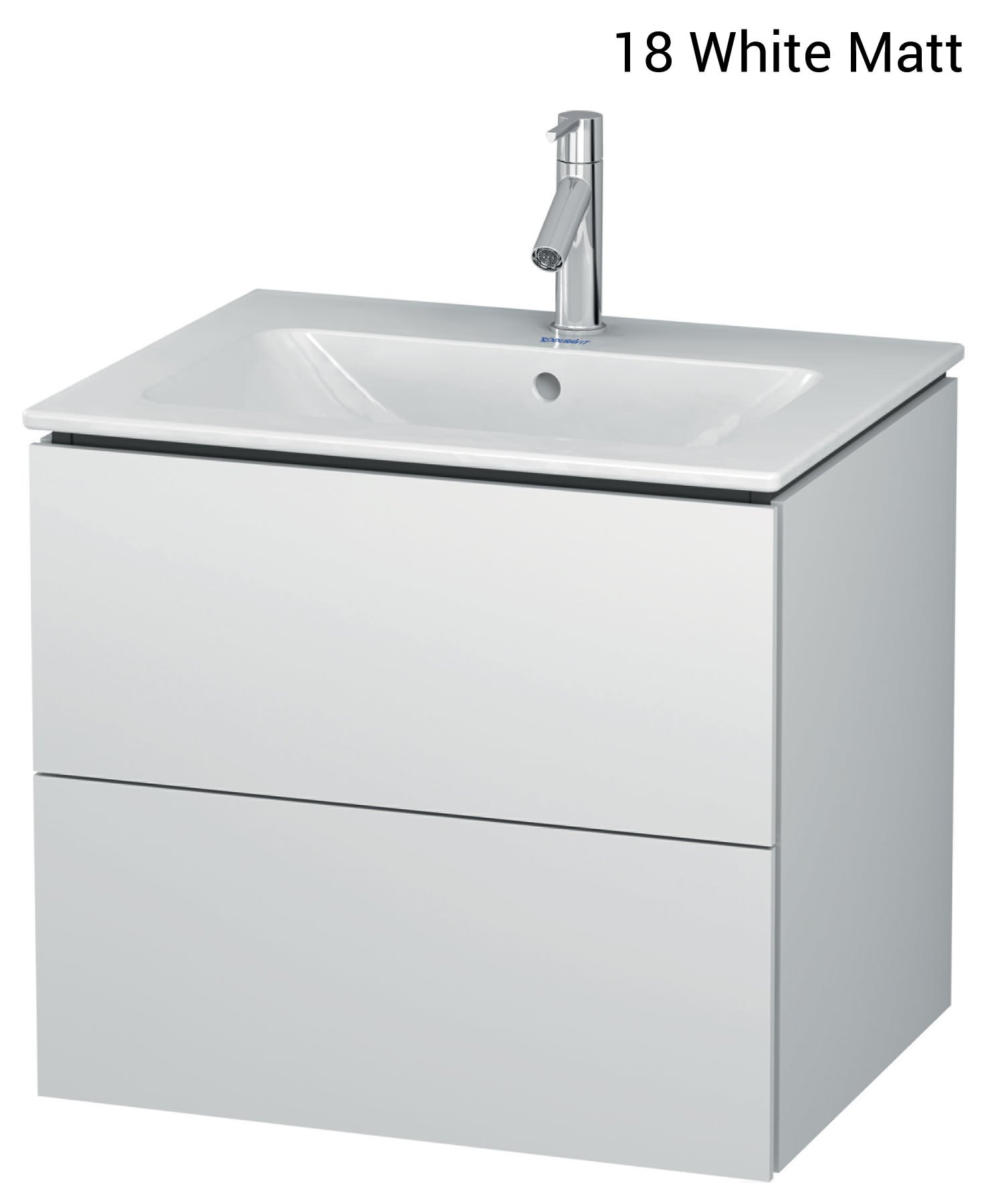 duravit l cube 620mm 2 drawers vanity unit with me by. Black Bedroom Furniture Sets. Home Design Ideas