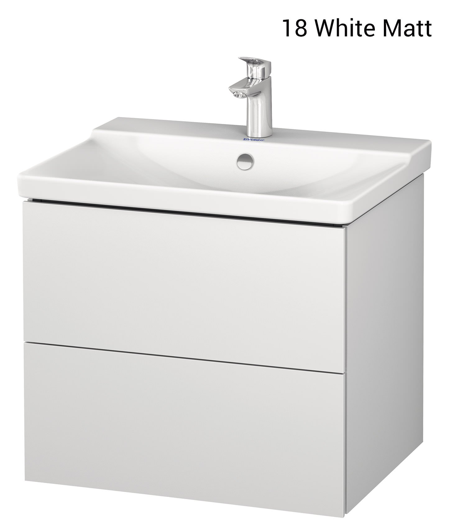 Duravit L-Cube 620mm Wall Mounted Vanity Unit With P3 Comforts Basin