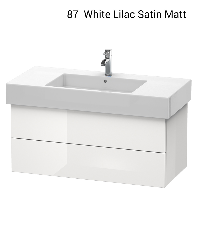 Pine Bathroom Vanity Unit: Duravit Delos 1000 X 470mm Pine Terra 2 Drawer Vanity Unit