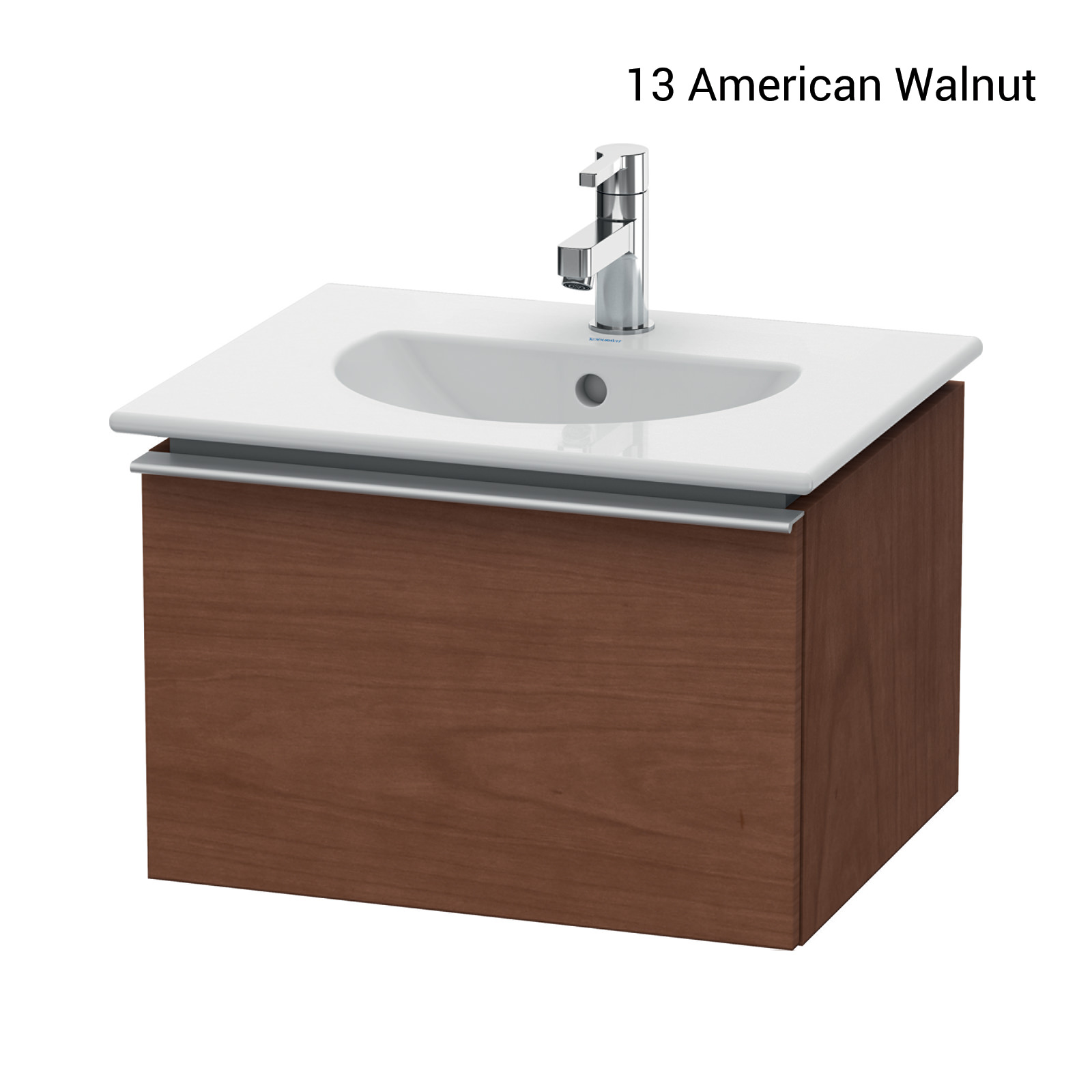 duravit darling new 500 x 430mm terra wall mounted vanity unit with basin. Black Bedroom Furniture Sets. Home Design Ideas