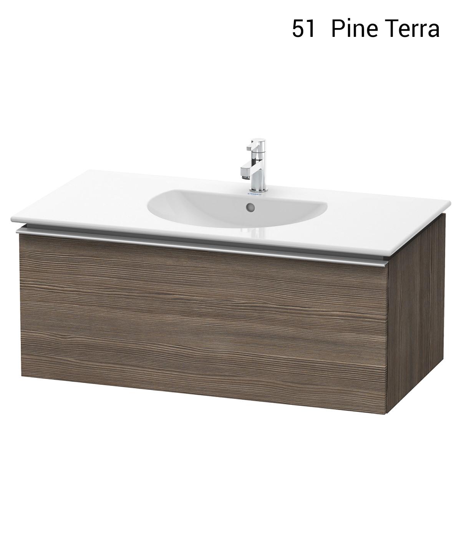 Pine Bathroom Vanity Unit: Duravit Darling New 1000 X 545mm Pine Silver Vanity Unit