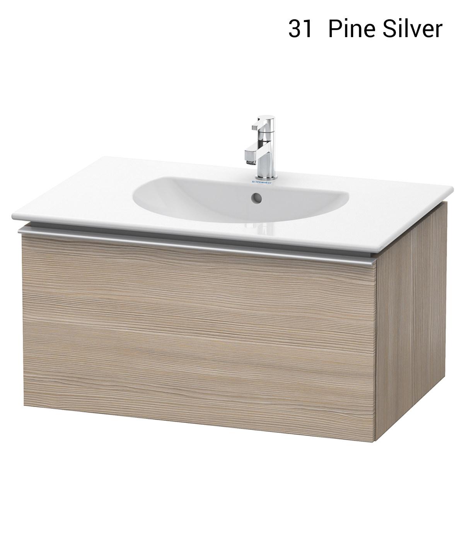 duravit darling new 800 x 545mm pine silver vanity unit. Black Bedroom Furniture Sets. Home Design Ideas