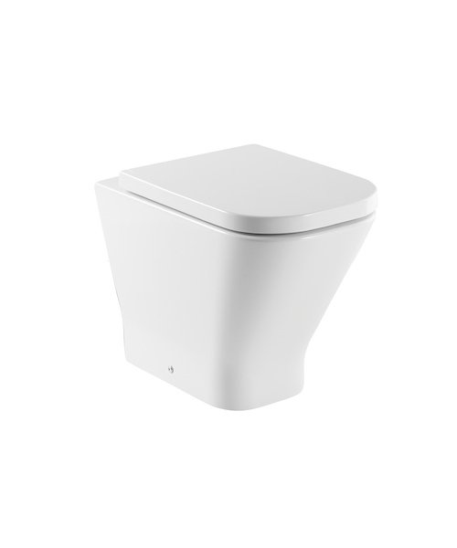 Roca The Gap Comfort Height Back To Wall Wc Pan With Dual Outlet