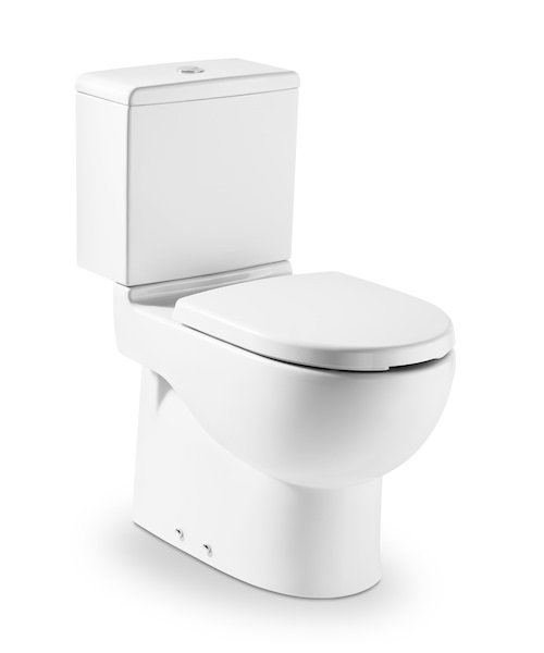 Fantastic Roca Meridian N Closed Coupled Wc Pan With Dual Outlet Frankydiablos Diy Chair Ideas Frankydiabloscom