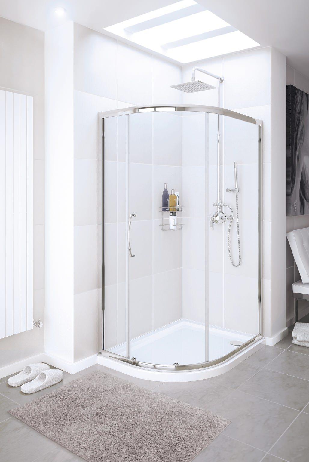 Lakes Classic Single Door Offset Quadrant Shower Enclosure 900 x 760mm