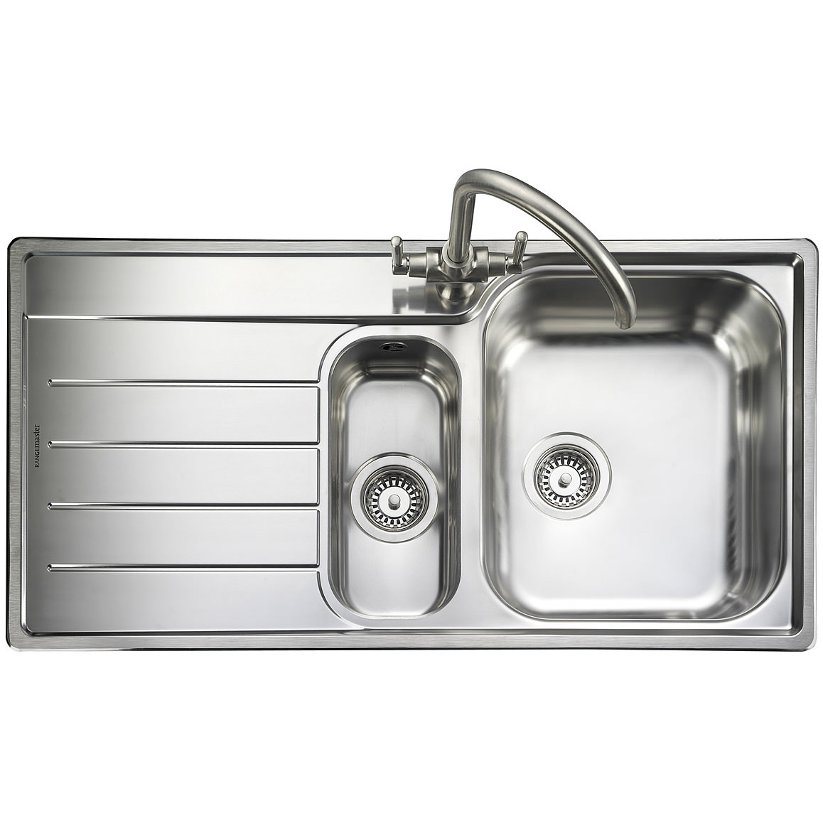 rangemaster kitchen sinks rangemaster oakland 1 5 bowl stainless steel kitchen sink lh 1721